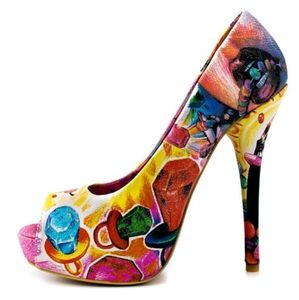 Iron fist candy sweet tooth ring pop peep toe